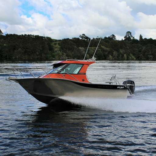 The FC 700HT (Hard Top) Boat is fantastic for offshore fishing and diving trips. With its exceptional stability, power and protection from the elements, you'll be able to spend the entire day on the ocean exploring new grounds comfortably and safely in this quality aluminium boat.