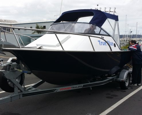 The FC 595 Cuddy Cabin is an alloy boat designed to be safe, stable and give shelter from the elements and a great alternative to a fibreglass boat. This is a great family boat designed as a Quality Aluminium boat that you can enjoy great times out on the water fishing and driving around New Zealand.