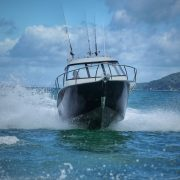 The FC 635HT (Hardtop) Boat is fantastic for offshore fishing and diving trips. With its exceptional stability, power and protection from the elements, you'll be able to spend the entire day on the ocean exploring new grounds comfortably and safely in this quality aluminium fishing boat.