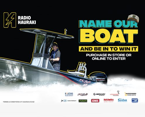 FC Boats, Boating & Outdoors and Radio Hauraki - Name Our Boat Giveaway is BACK! Win this ultimate alloy fishing boat - FC 465cc (Centre Console) - loaded with all the extras, from a Minn Kota, Humminbird Sounder to a Mercury Outboard and Voyager Trailer! Thanks to all the sponsors Radio Hauraki, Boating and Outdoors, FC Boats, Mercury Marine Australia & New Zealand, Voyager Trailers Ltd, Humminbird Australia & New Zealand, Minn Kota Australia & New Zealand, Fusion Marine Entertainment, SeaDek, Hutchwilco, GME and Narva Marine.